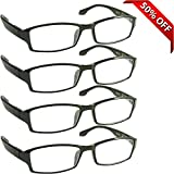 Reading Glasses _ Best 4 Pack for Men and Women _ Have a Stylish Look and Crystal Clear Vision When You Need It! _ Comfort Spring Arms & Dura-Tight Screws _ 100% Guarantee +1.50