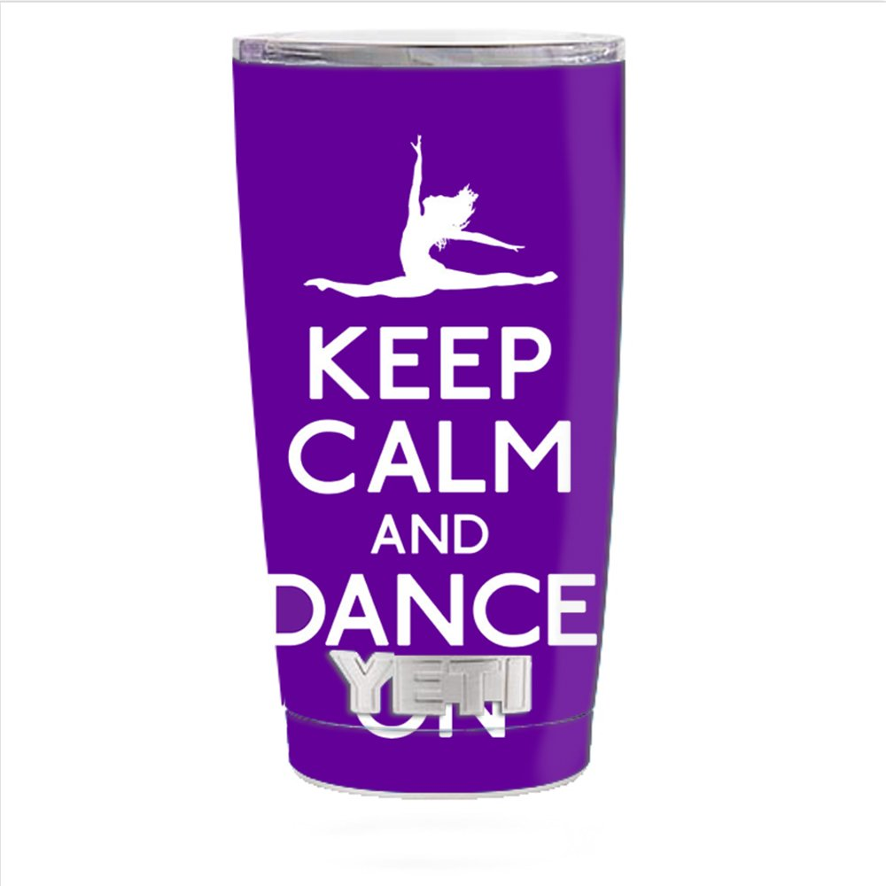 Skin Decal Vinyl Wrap for Yeti 20 oz Rambler Tumbler Cup Skins Stickers Cover / Keep Calm dance On