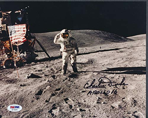 Charles Duke Astronaut Autographed Signed Memorabilia 8x10 Photo Autograph Auto - PSA/DNA Authentic