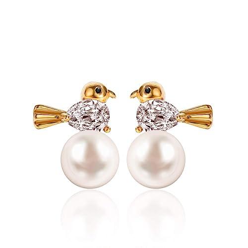 3ce3cb22d Cute Pearl Earrings,Bird Shape White Simulated Shell Pearls Stud Earrings,Jacket  Hypoallergenic Kids Earrings: Amazon.ca: Jewelry
