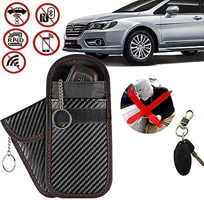 accesorio de seguridad para coche protector de la llave bloqueo de RFID Fob antirrobo Kit Faraday: cubierta de la llave del coche para entrada sin llave tarjeta bloqueador de tarjeta NFC