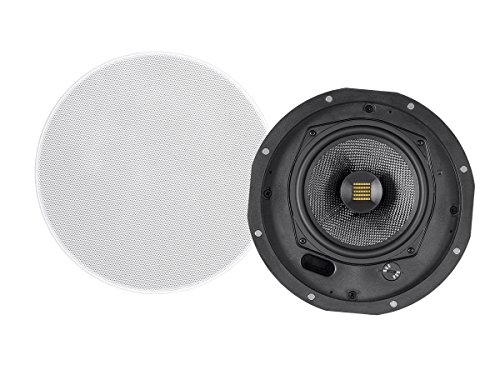 Monoprice Amber Ceiling Speakers 6.5-inch 2-way Carbon Fiber with Ribbon Tweeter (pair) by Monoprice