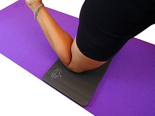 """SukhaMat Yoga Knee Pad NEW! 15mm (5/8"""") Thick The best yoga knee pad for a pain free Yoga, Fitness, or Exercise Workout. Cushions pressure points. Complements your full size yoga mat."""