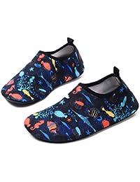 b72efb983fa651 Kids Boys and Girls Swim Water Shoes Quick Drying Barefoot Aqua Socks Shoes  for Beach Pool