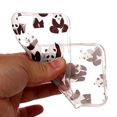 Custodia iPhone 6 Plus / 6S Plus , LH Panda TPU Trasparente Silicone Cristallo Morbido Case Cover Custodie per Apple iPhone 6 Plus / 6S Plus 5.5