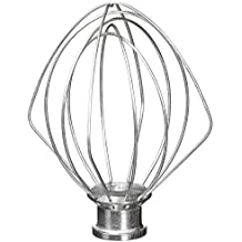 6-Wire Whip Attachment Fits KitchenAid Tilt-Head Stand Mixer Replace K45WW, Stainless Steel, Egg Heavy Cream Beater, Cakes Mayonnaise Whisk