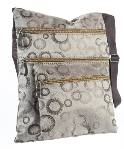 Messenger Circle Swingpack Purse Everyday Crossbody Handbag Suvelle Light Travel Brown 607 Bag Blurred R5T8qwxZ