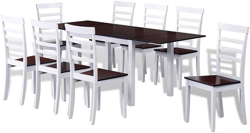 Tavolo Da Pranzo Allungabile E Sedie.Festnight Set Sala Da Pranzo Con Tavolo E Sedie In Legno Moderne