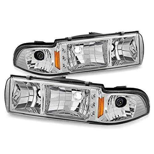 ACANII - For 1991-1996 Chevy Caprice Impala LED Strip Headlights w/Built In Corner Signal Lamps Driver & Passenger Side