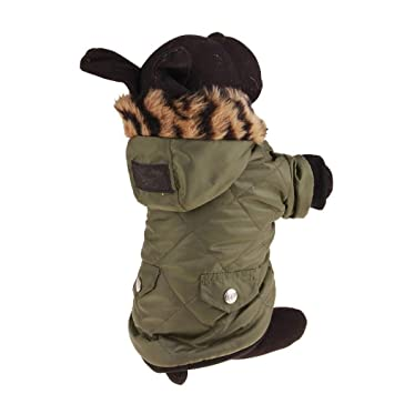 GAONAH Sudaderas con Capucha para Mascotas XS S M L XL XXL XXL Ropa para Perros Cachorro De Lujo Ropa para Mascotas Abrigo Invierno Cálido Rosa Verde: ...