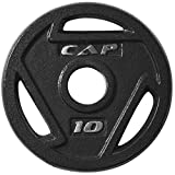 Increase the intensity of your workout with the cap 2 in Olympic grip plate. It makes an exceptional addition to your weight lifting routine. The single cap plate is made of solid cast iron. Each piece features over-sized holes. This allows t...