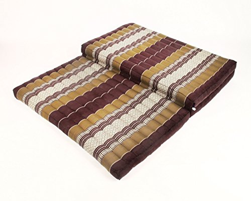 leewadee-thai-massage-mat-xl-82x46x3-inches-kapok-fabric-brown-premium-double-stitched