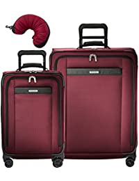 Transcend 3 Piece Spinner Set | Tall Carry-On Expandable Spinner | Medium Expandable Spinner | Travel Pillow