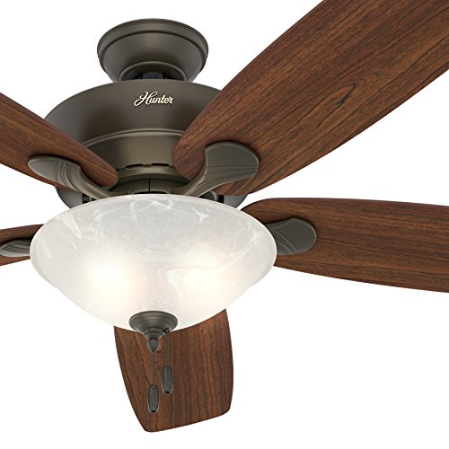 Cheap Hunter Fan 60″ Great Room Ceiling Fan in New Bronze with Swirled Marble Glass Light Kit, 5 Blade (Certified Refurbished)