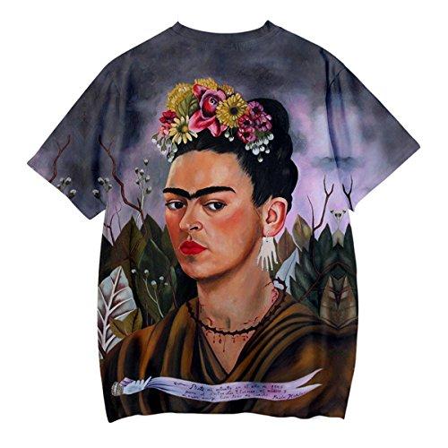 Q1031 SIMYJOY Rockabilly Modern Unisex Shirt Frida 3D T Cool Shirt Uomo Streetwear Stampa Giovani Tee Summer Messicana Poster Style Artist Vintage Donna per Kahlo T SZZqxra
