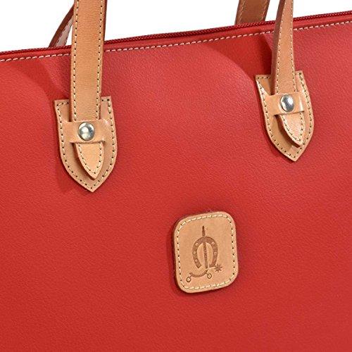 Portadocumentos Para En El Asas Mujer Caballo 1007 Con Piel Documentos Rojo De Carpeta wBqEqv