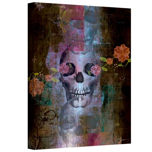 Art Wall 'Skull' Gallery Wrapped Canvas Art by Greg Simanson, 32 by 24-Inch