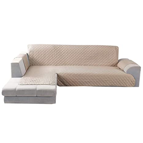 Fabulous Littleduck Sofa Slipcover 4 Seater Corner Sofa Cover L Shape Non Slip Soft Sectional Couch Covers Furniture Protector Beige For Pets Dogs Right Arm Download Free Architecture Designs Sospemadebymaigaardcom