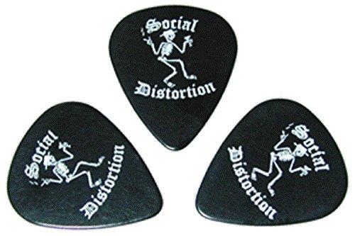 Social Distortion Skeleton with Martini & Hat Logo Guitar Pick Pack - Set of (Social Distortion Guitar)