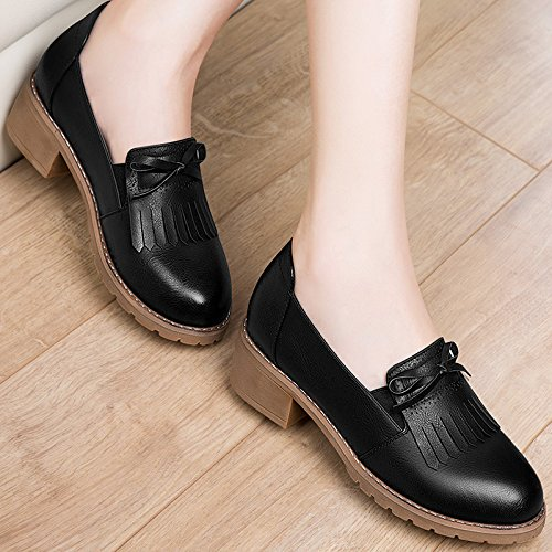 New Retro Shoes Foot Shoes Set Lazy Round KPHY five Fall Student Shoes Of With Thirty The Girls A8xtPq