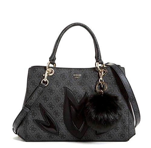 (Guess Women's Girlfriend Jaden Satchel Bag Handbag (Black))