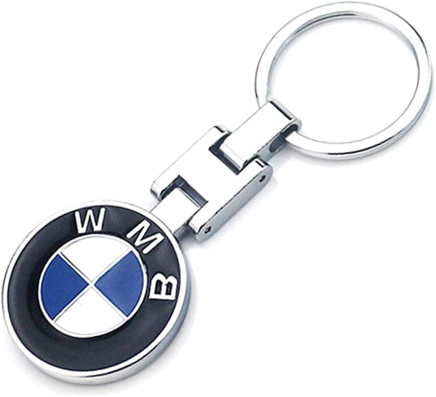 VILLSION 3D Logo Car Key Chain Accessories Double Sided Alloy Metal Auto Car Keychain Key Holder with Gift Box