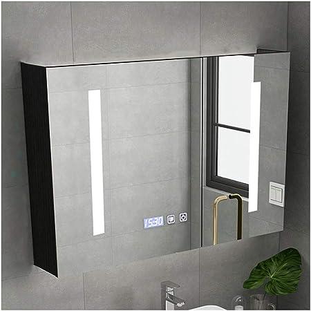 LYXDZW Espejo de baño Armarios con Espejo para Baño, Iluminado Armario De Baño, con Espejo, con Estantes (1 Puertas, 2 Puertas, 3 Puertas) (Color : Gray, Size : 65x80x16cm): Amazon.es: Hogar