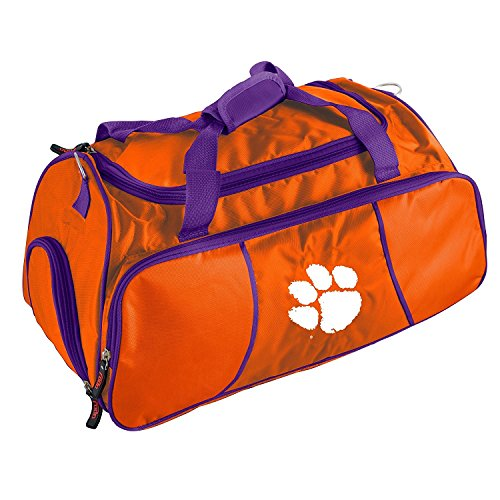 Orange Auburn University Duffel Bag 22Inch, Polyester, MultiCompartment by OTSK
