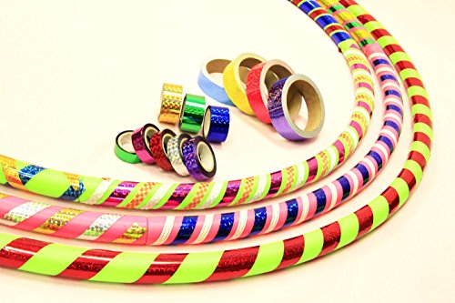 "Sports Hoop - DIY Hoop8482; 2B - 1.8lb (Dia.40.5"") Large, Exercise Hula Hoop. Green. 2 Tapes included"