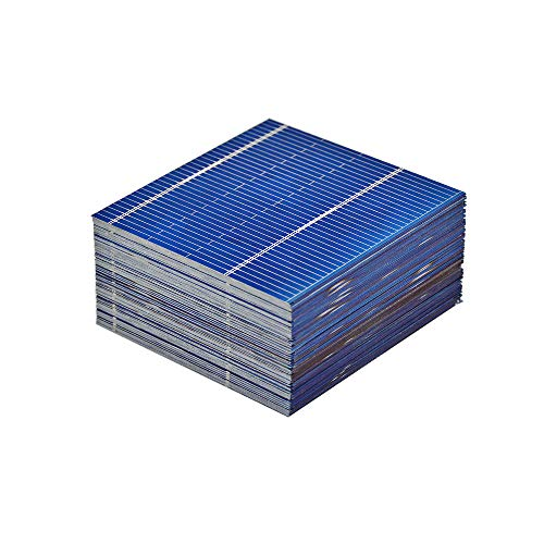 AOSHIKE 100pcs micro mini Solar cells panels 0.5V 0.46W Polycrystalline Silicon Solar panels DIY Cell Phone Charging Battery 52 x 52mm/2x2inches by AOSHIKE