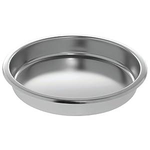 HUBERT Chafer Chafing Dish Food Pan Round Stainless Steel - 15 1/4 Dia x 2 1/2 H