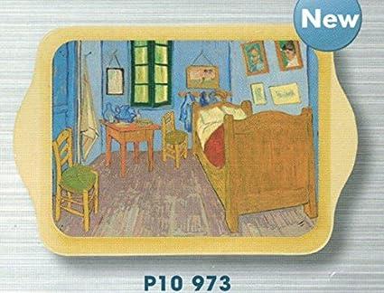 FRANCIA VINTAGE BANDEJA METAL 14x21cm pintura de Van Gogh dormitorio