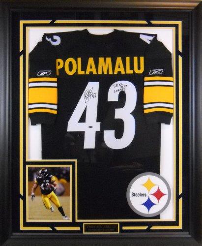 Troy Signed Polamalu Jersey (4706 Troy Polamalu Autographed & Framed Jersey)