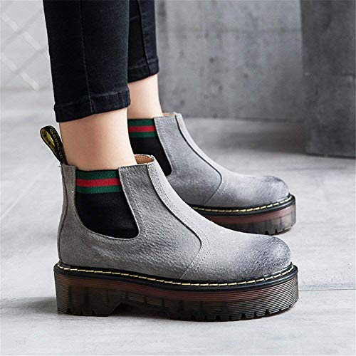 Tubo En Zapatos Deed De Eu Retro 38 Inferiores Aumentó Los Señoras Martin High Banghou Boots aB7a0