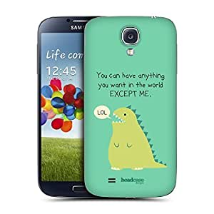 AIYAYA Samsung Case Designs Extinct Dino Little Doses of Nonsense and Randomness Replacement Battery Back Cover for Samsung Galaxy S4 I9500