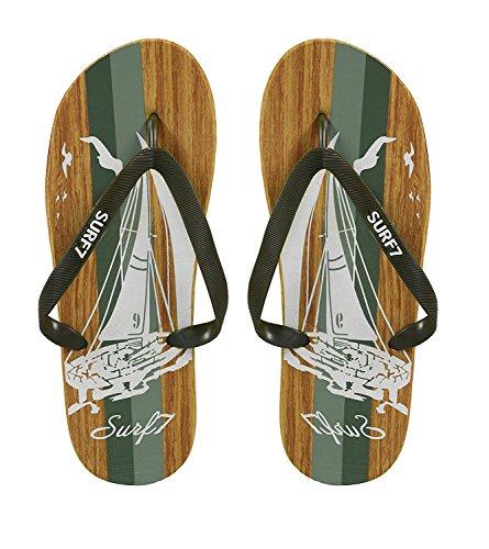 Peach Couture Hombres Beach Flip Flops Textura Strappy Slip On Sandalias De Playa Rojo Azul 12 Verde