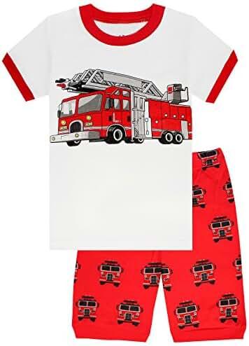 Family Feeling Space Little Boys Shorts Set Pajamas 100% Cotton Clothes Toddler Kid