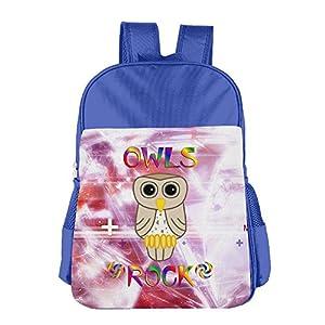 Mokjeiij Owls Rock Unisex Girls Boys School Backpack Children's
