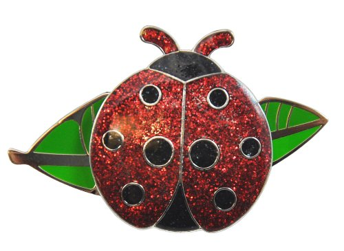 Navika Ladybug Glitzy Ball Marker with Leaf Kicks Candy Shoe Ornament ()