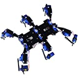 ヘキサポッド/ 6本足ロボット スパイダー ロボットフルセット ブラケット アクセサリー ブラック