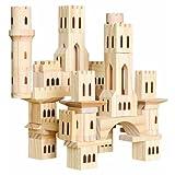 Discovery Kids 69-Piece Wooden Castle Block Set