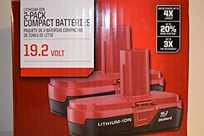 Craftsman 19.2-Volt Battery Lithium-Ion Two PP2011 Battery Packs by Craftsman