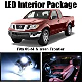 Classy Autos Nissan Frontier White Interior LED Package (5 Pieces)
