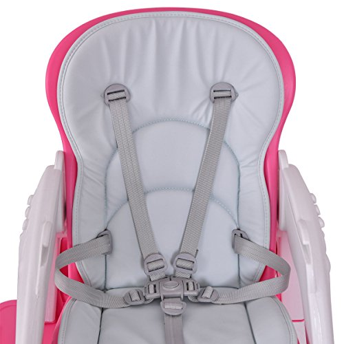 Costzon 3 in 1 Baby High Chair Desk Convertible Play Table Conversion Seat Booster (Pink) by Costzon (Image #4)