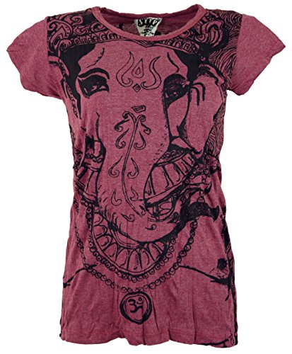 Bordeaux Camicie GURU Cotone SHOP Maglietta Sure` Sicura Ganesh 8wT0Xnwq