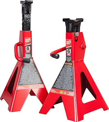 Great Deal! Torin Big Red Steel Jack Stands: 6 Ton Capacity, 1 Pair