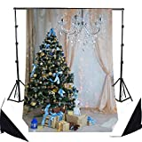 Hot Sale! Merry Christmas Theme Photo LESS CREASE Backdrop Grade AAAAA Photography Backdrops Backgrounds for Baby Kids Christmas Decor(Updated Material)