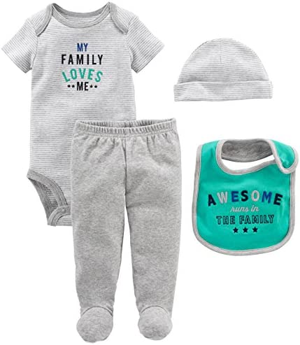Simple Joys by Carters 4-Pack Soft Thermal Long Sleeve Bodysuits B/éb/é gar/çon Lot de 4