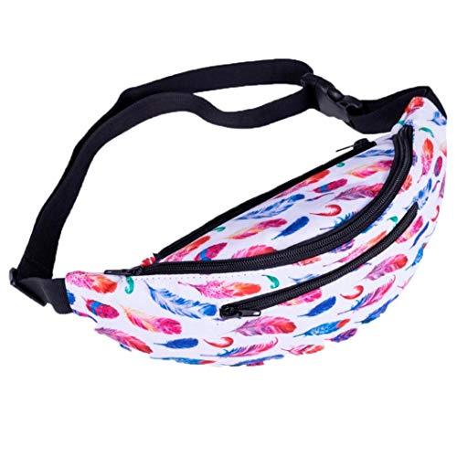 Pattern Fashion Decorative Bag Waist Bag Women Package E Chest EUzeo Gym Fitness Ctdqwad