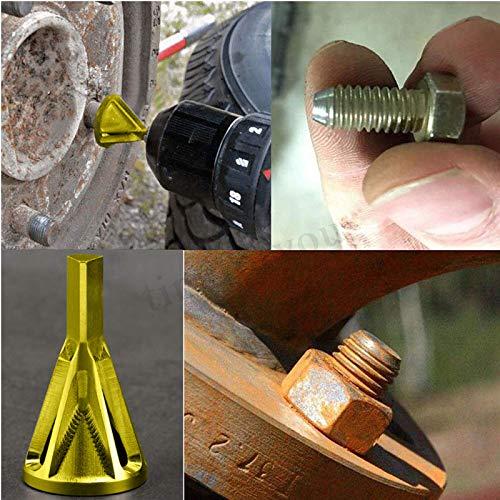 ADSRO herramienta de chaflán externo para desbarbado, para quitar los residuos de taladro y reparar rápidamente los pernos...